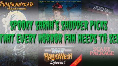 Looking for something to watch on Shudder? Spooky Sarah has you covered! Check out this list of 10 films that are definitely worth seeing! spookysarahsays.com #Shudder #HorrorMovies #MovieLists