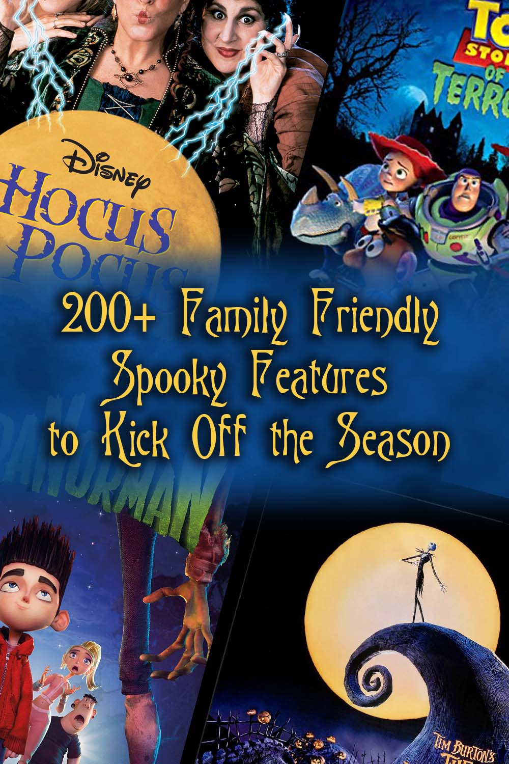 Looking for something to watch with your kids this Halloween? Here is a list of 200+ family friendly spooky features to enjoy this season!